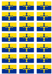Durham Flag Stickers - 21 per sheet